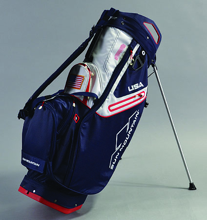 2018 Sun Mountain C-130 Stand Bag Navy/Red/White