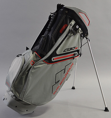 Sun Mountain C-130 Stand Bag  Cement/Black/Red