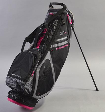Sun Mountain Women's 3.5 LS Stand Bag Black/Gray/Galaxy/Pink