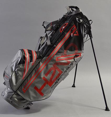 Sun Mountain H2NO Lite Stand Bag Black/Gray/Fire