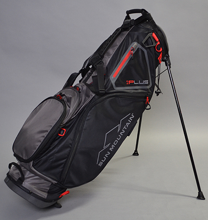 Sun Mountain 4Plus Stand Bag Black/Gunmetal/Red