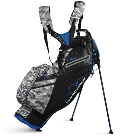 2020 Sun Mountain 4.5 LS 14-WAY Bag Black/Camo/Cobalt