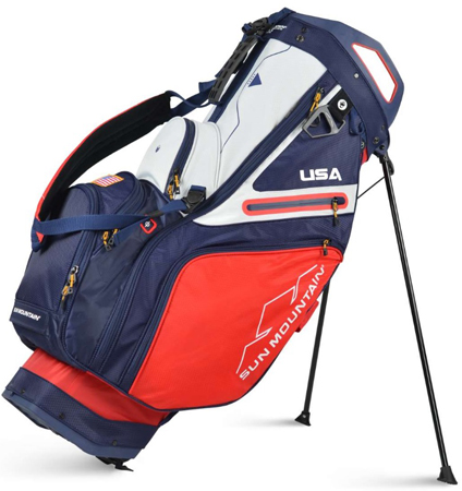 2021 Sun Mountain C-130 Stand Bag  Red/Navy/White