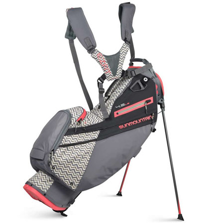 2021 Sun Mountain Women's 4.5 LS Stand Bag Graphite/Ripple/Coral
