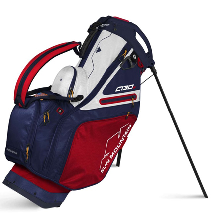 2022 Sun Mountain C-130 Stand Bag Red/Navy/White