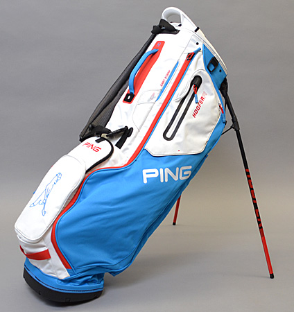 2020 PING Hoofer 14 Bright Blue/White/Scarlet Custom Single Strap & Mr. PING Logo