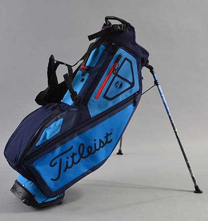2018 Titleist Players 4 Stand Bag Seascape/Breeze/Red