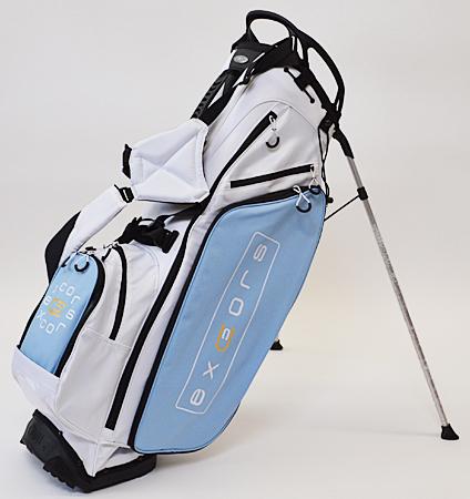 excors Box Logo Stand Bag White/Carolina Blue
