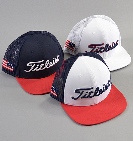 Titleist  Tour Flat Bill  Mesh Cap USA Flag Collection Limited Model