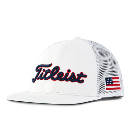 Titleist Stars and Stripes Tour Flat Bill Mesh Cap White/Navy