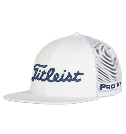 2020 Titleist Tour Flat Bill Mesh Cap White/Navy