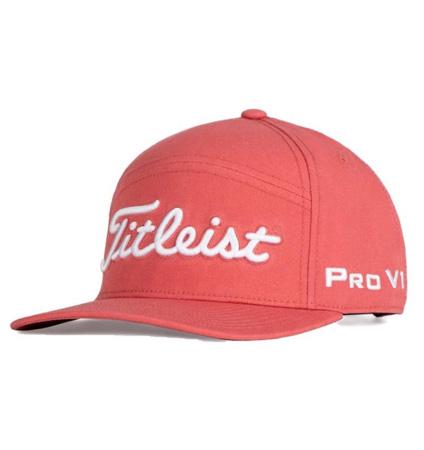 2020 Titleist Tour Split Panel Cap Island Red/White