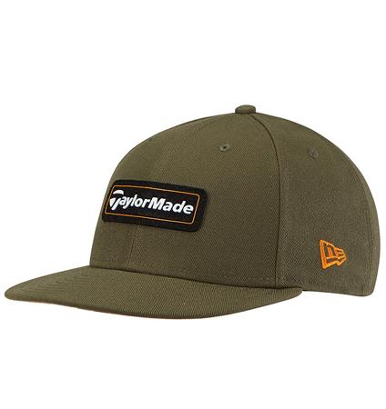 TaylorMade New Era 9Fifty SnapBack Hat Olive/Orange