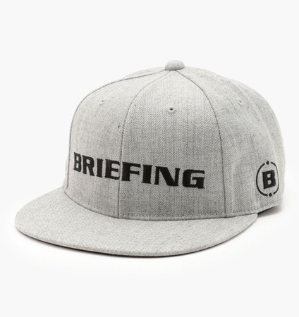 BRIEFING  BASIC CURVED VISOR CAP L.GRAY