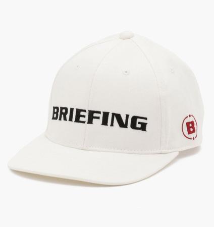 BRIEFING  CURVED VISOR CAP WHITE