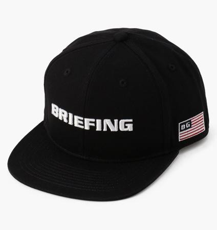 BRIEFING MENS FLATVISOR CAP BLACK