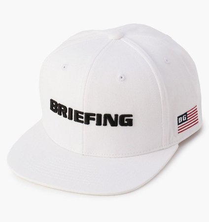 BRIEFING MENS FLATVISOR CAP WHITE