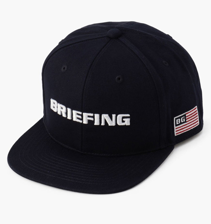 BRIEFING MENS FLATVISOR CAP NAVY
