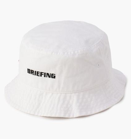 BRIEFING MENS BASIC HAT WHITE