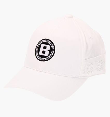 BRIEFING MENS LOGO ELASTIC CAP WHITE