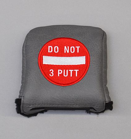 AM&E Do Not 3Putt Universal Large Mallet Putter Cover Flint(Charcoal)