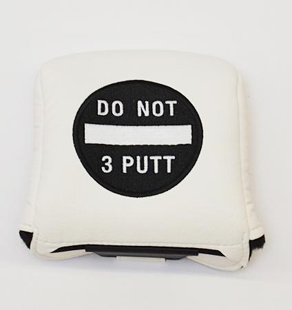 AM&E Do Not 3Putt Universal Large Mallet Putter Cover White/Black