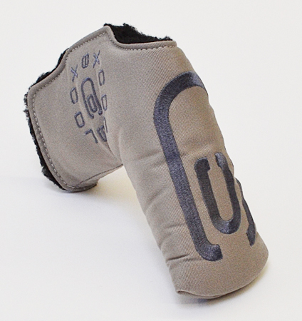 AM&E excors original Tech Canvas Putter Cover Snap-Fit for Standard ★★★★★ Gray/Charcoal