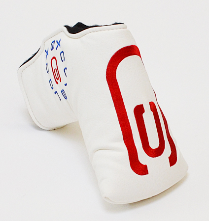 AM&E excors original Putter Cover Snap-Fit for Mid-Mallet ★★★★★ White/Red