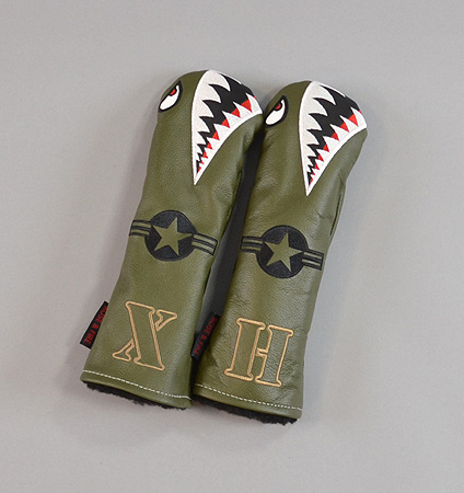 "Rose&Fire ""Bomber/Warhawk"" Premium USA Leather Hybrid Headcovers"