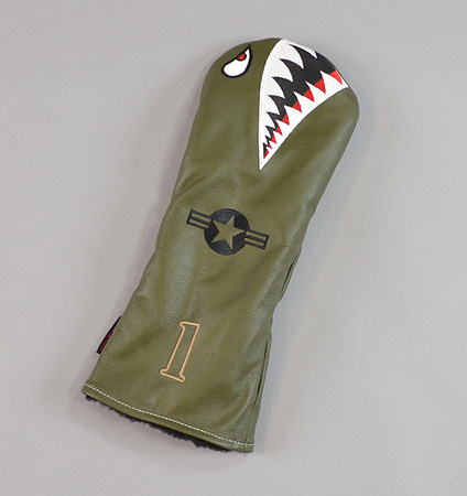 """Rose&Fire """"Bomber/Warhawk"""" Premium USA Leather Driver Headcovers"""