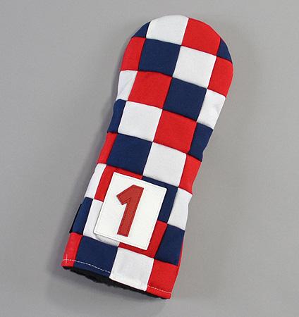 "Rose&Fire ""Checkered"" USA  Cordura Headcovers Driver"