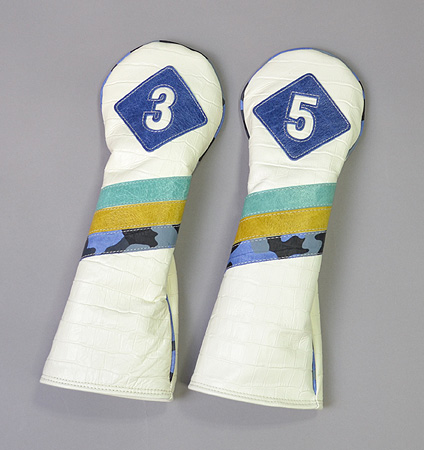 """excors original """"Pigskin"""" Headcovers for Fairway"""