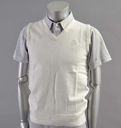 2017 Fairy Powder FP17-5109 Stretch Cotton V-Neck Vest White