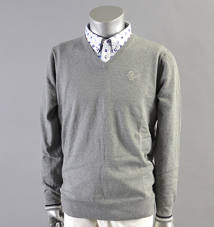 Fairy Powder FP18-1101 Stretch V-Neck Sweater Gray
