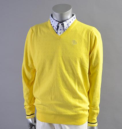 Fairy Powder FP18-1101 Stretch V-Neck Sweater Yellow
