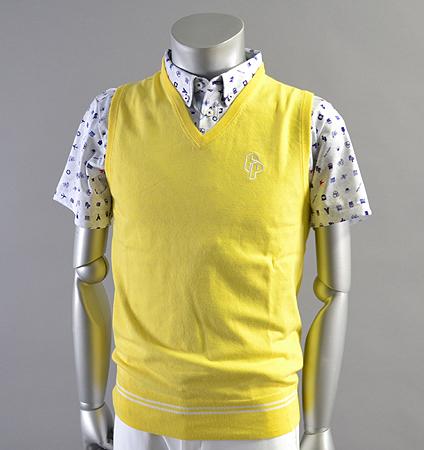 Fairy Powder FP18-1102 Stretch V-Neck Vest Yellow