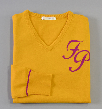 Fairy Powder FP18-5105 V-Neck Sweater Yellow