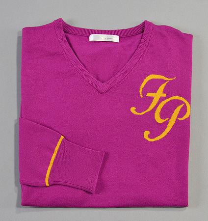 Fairy Powder FP18-5105 V-Neck Sweater Purple