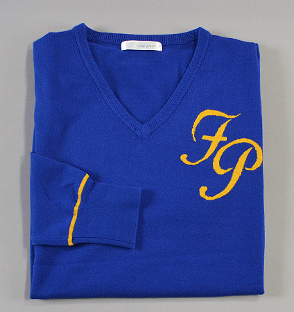 Fairy Powder FP18-5105 V-Neck Sweater Blue