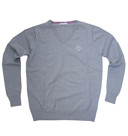 Fairy Powder FP19-5105 V-Neck Sweater Gray