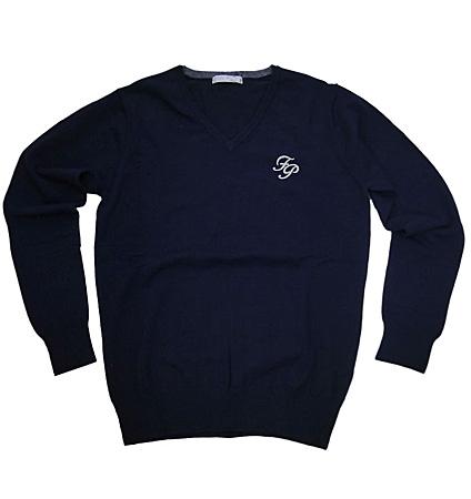 Fairy Powder FP19-5105 V-Neck Sweater Navy
