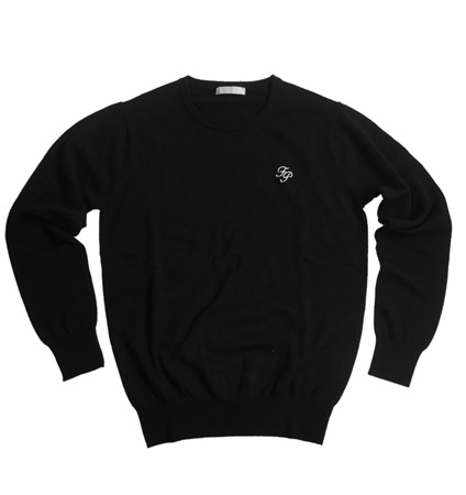 Fairy Powder FP19-5106 Cashmere Crew Neck Sweater Black