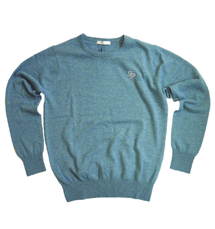 Fairy Powder FP19-5106 Cashmere Crew Neck Sweater Green
