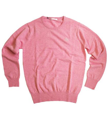 Fairy Powder FP19-5106 Cashmere Crew Neck Sweater Pink