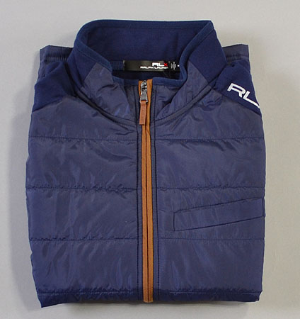RLX COOL WOOL VEST FRENCH NAVY