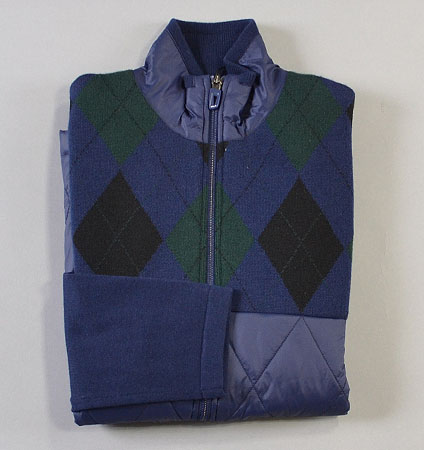 RLX THERMOCOOL HYBRID SWEATER BLACKWATCH ARGYLE
