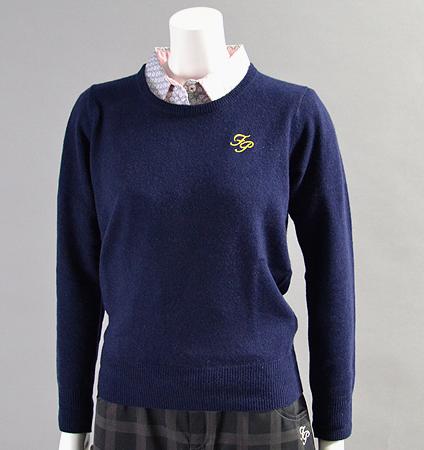 2017 Fairy Powder FP17-6105 Women's Cashmere Sweater Navy
