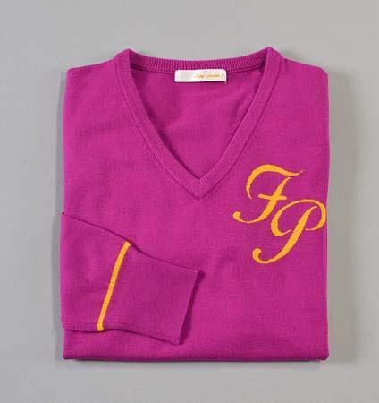 Fairy Powder FP18-6105 Women's V-Neck Sweater Purple