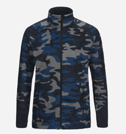 2018 PeakPerformance Rider Print Zip Blue Camo