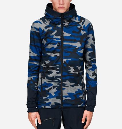 2018 PeakPerformance Rider Print Zip Hood Blue Camo